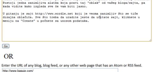 "Kako da napravite ""oblak reči"" vašeg sajta ili bloga ?"