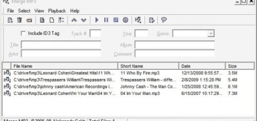 Kako da spojite više mp3 fajlova u jedan ?