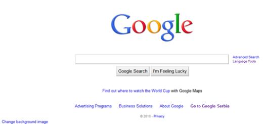 Kako da menjate pozadine za Google.com ?
