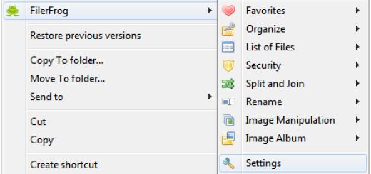 """""""FilerFrog"""" najbolji dodatak meniju vašeg desnog klika"""