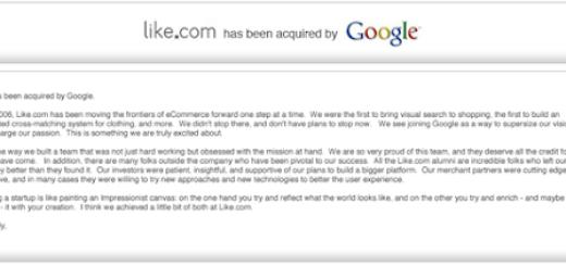Google kupio Like.com za više od 100 miliona dolara