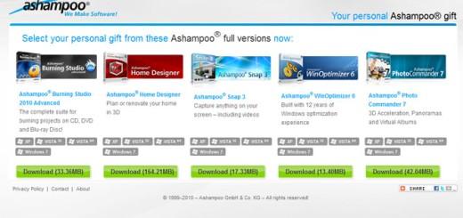 5 komercijalnih programa od kompanije Ashampoo besplatno