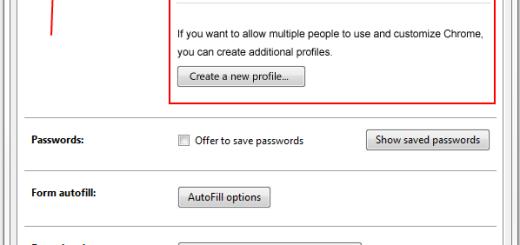 Kontrola profila u Google Chrome veb brauzeru