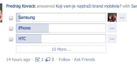 Kako da postavite glasanje na Facebooku?