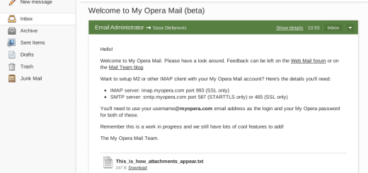 Opera pokrenula mail servis !