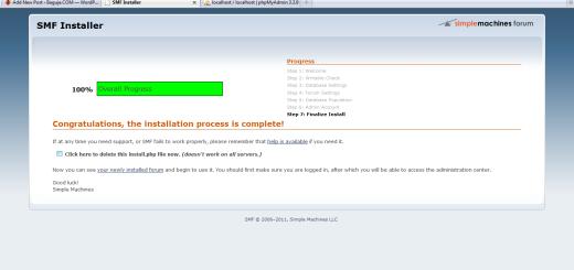 Kako instalirati SMF na Wamp serveru?