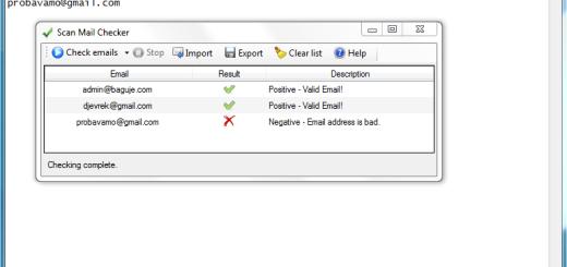 Kako da proverite da li je e-mail adresa validna ?