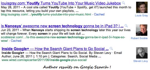 Google dodaje slike autora u pretragu