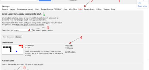 Igrajte zmijicu na gmailu !