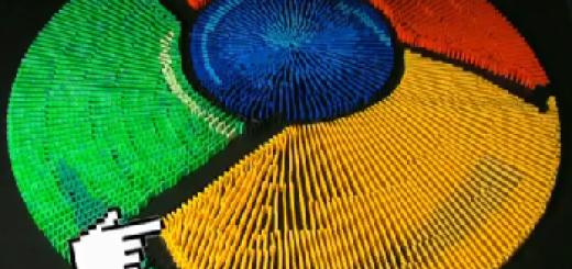 Google Chrominos – Google Chrome logo od domina