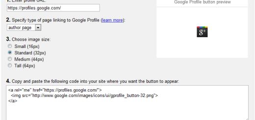 Kako da dodate Google profil dugme na svoj sajt/blog ?