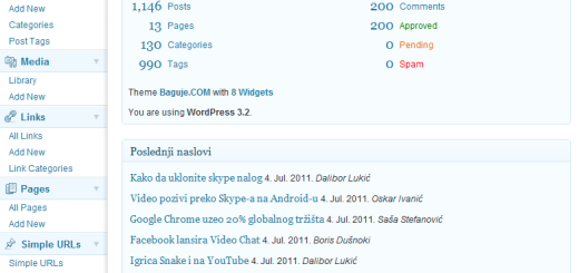Objavljen WordPress 3.2 !