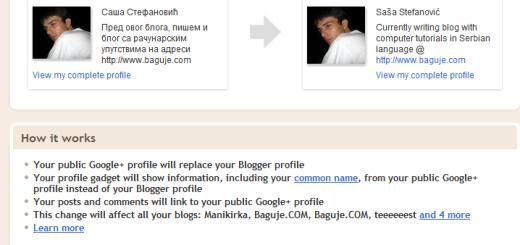 Blogger profili se spajaju sa Google+