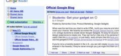 I Google reader spreman za redizajn :)