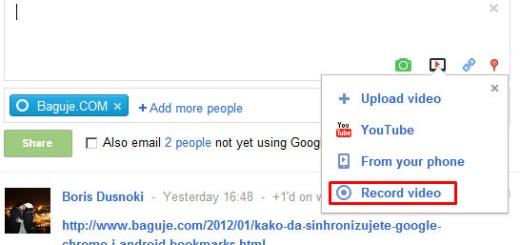Google Plus omogućio dodavanje video poruka