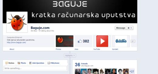 Facebook omogućio timeline i za fan stranice