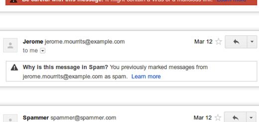 Gmail pokazuje zašto su poruke završile u spamu