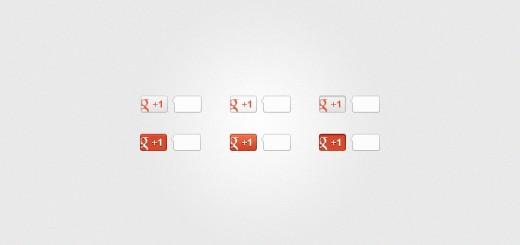 Besplatan PSD: Google +1 dugmići