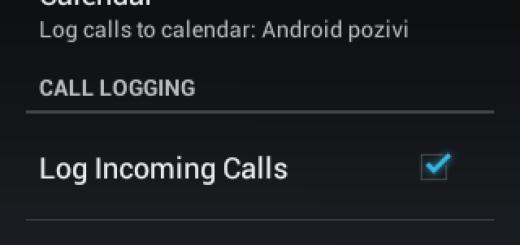 [Android] Kako da pošaljete dnevnik poziva na Google kalendar ?