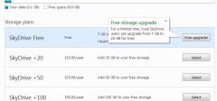 25GB besplatnog prostora na SkyDrive-u