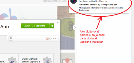 Pravljenje screenshot-ova u Google Chrome-u