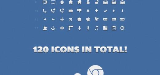 120 besplatnih ikonica u PSD formatu