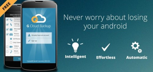Nov besplatan backup za vaš Android telefon – G Cloud Backup