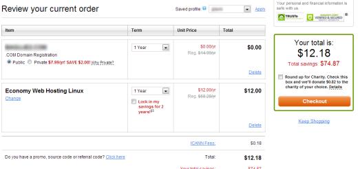 Godaddy hosting i domen za 1 dolar mesečno