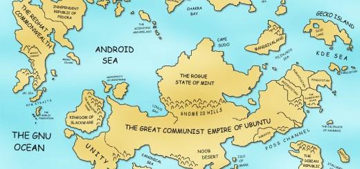 Planeta linuxa – Mapa sveta