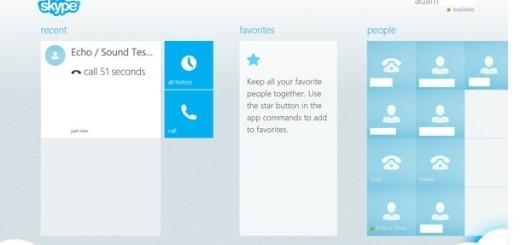 Skype ugrađen u Windows 8.1