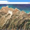Pogled na Zemlju iz Google Chrome-a