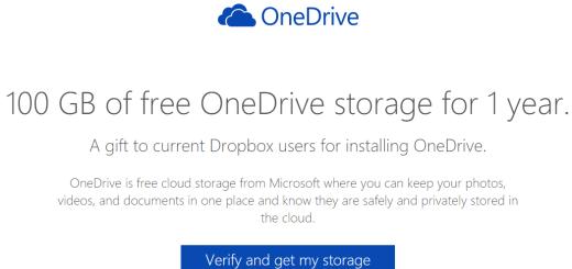 Dropbox korisnicima omogućeno 100gb besplatnog prostora na OneDrive-u