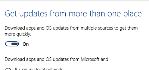 Windows 10 ima podršku za P2P update